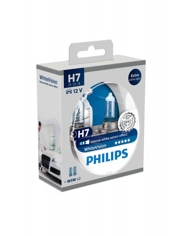 PHILIPS H7 White Vision + 2x PHILIPS T10
