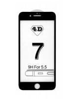 Prémiové 4D temperované sklo iPhone 7+/8+ čierne