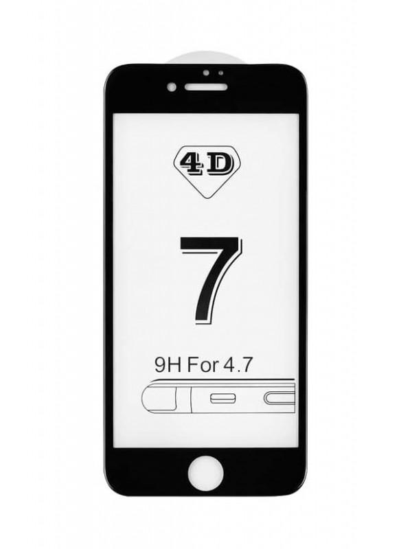 Prémiové 4D temperované sklo iPhone 7/8 čierne