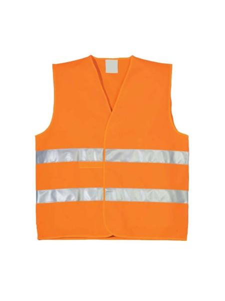Výstražná a reflexná vesta - oranžová
