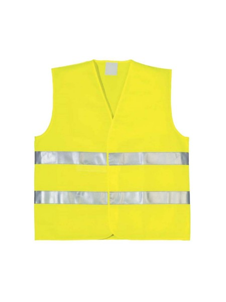 Výstražná a reflexná vesta - žltá
